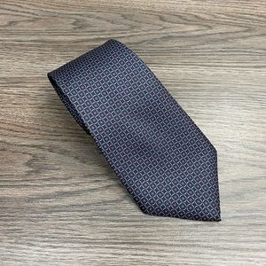 Christian Dior Navy, Red, Grey & Blue Check Tie